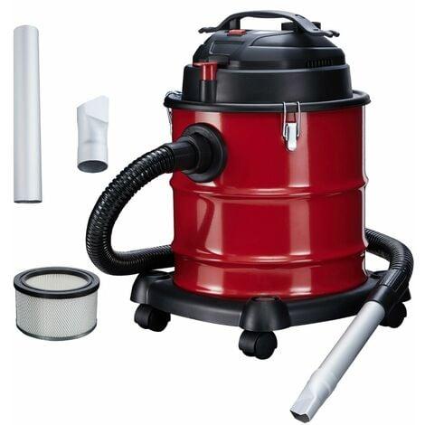 AREBOS Aspirador De Cenizas Prémium 1200W Filtro HEPA 20L - rojo / negro