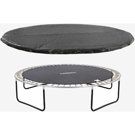 Arebos Bâche de protection pour trampoline 244 cm - noir