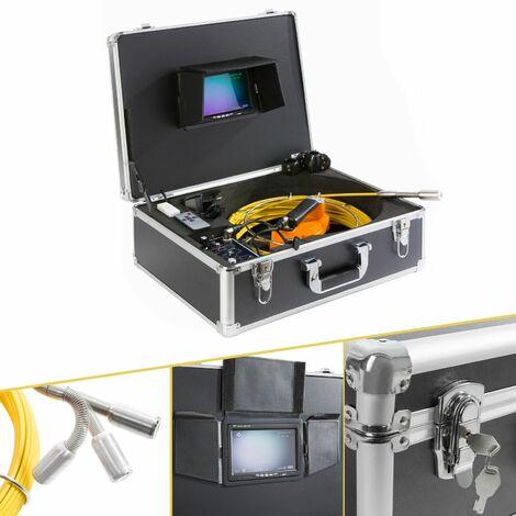 AREBOS Camera d'inspection tuyau de canalisation endoscope avec clé USB y câble de 30m