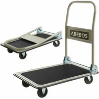 Arebos Carretilla Carro plataforma de transporte 150 kg