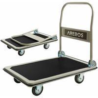 Arebos Carretilla Carro plataforma de transporte 300 kg
