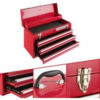 Arebos Cassetta degli Attrezzi 3 Cassetti Rosso