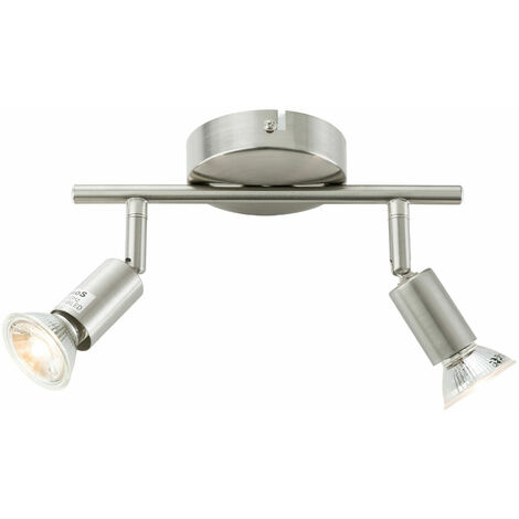 AREBOS Ceiling lamp 2x spotlights Led ceiling spot light Ceiling Fixture Wall Lamp GU10