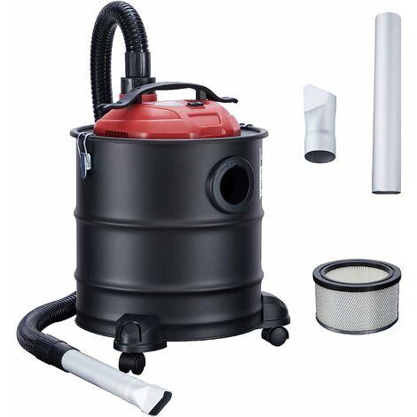Arebos Cendres Aspirateur 20 L 1200 W Cheminée Aspirateur Aspirateur incl. filtre HEPA - noir rouge
