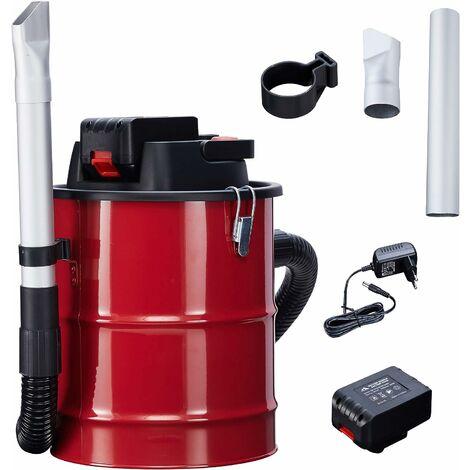 Arebos Cendres Aspirateur Avec Batterie 12 L 140 W Cheminée Aspirateur Aspirateur incl. filtre HEPA - rouge noir