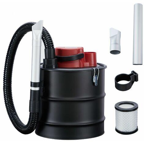 Arebos Cendres Aspirateur Eco 15 L 1200 W Cheminée Aspirateur incl. filtre HEPA - noir rouge