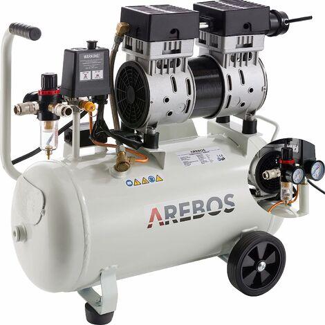 "main image of ""AREBOS Compresseur d'air 24 litres (800 W, 8 bar, 140 l/min) - argent"""