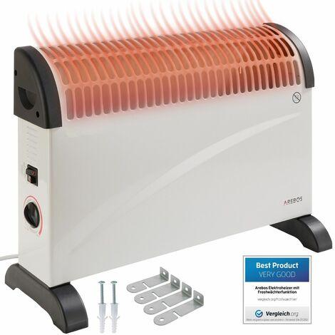 Arebos Convector 2000 W con termostato - Calefactor Calentador