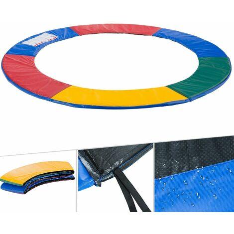 Arebos Coussin de protection des ressorts pour trampoline 183 - 487 cm multicolore