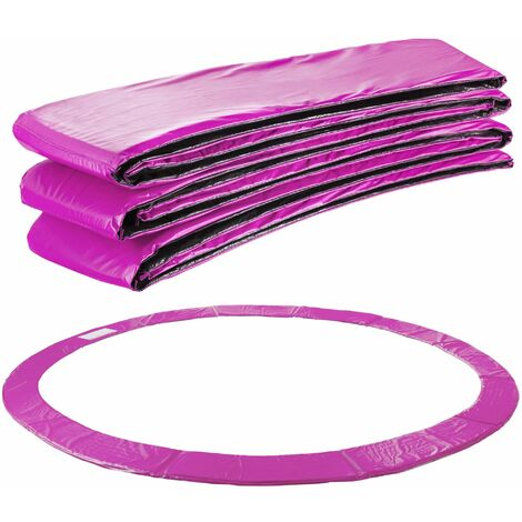 Arebos Coussin de protection des ressorts pour trampoline 183 - 487 cm pourpre