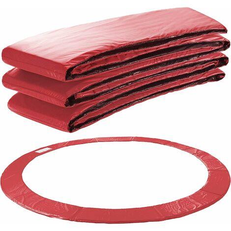 Arebos Coussin de protection des ressorts pour trampoline 183 - 487 cm rouge