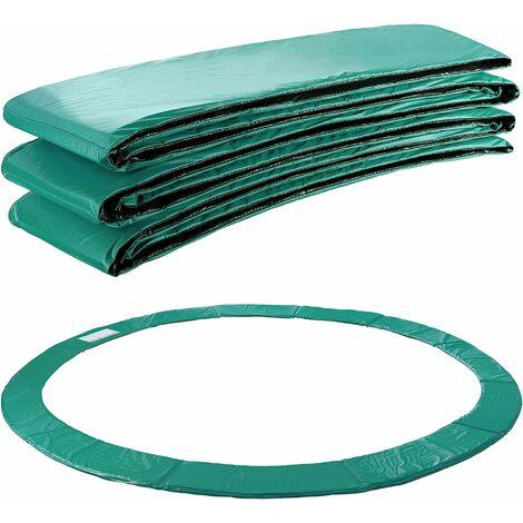Arebos Coussin de protection des ressorts pour trampoline 183 - 487 cm vert