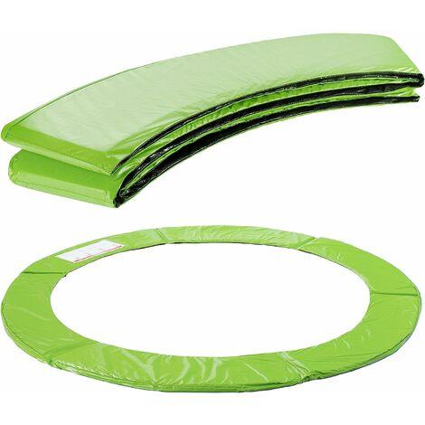 Arebos Coussin de protection des ressorts pour trampoline 183 - 487 cm vert clair