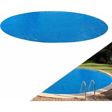 Arebos Couverture solaire à bulles pour piscine ronde/rectangulaire 400 µ/microns bleu