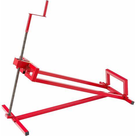 AREBOS Cric pour tracteur à gazon 400 kg dispositif de levage pour tondeuse - rouge