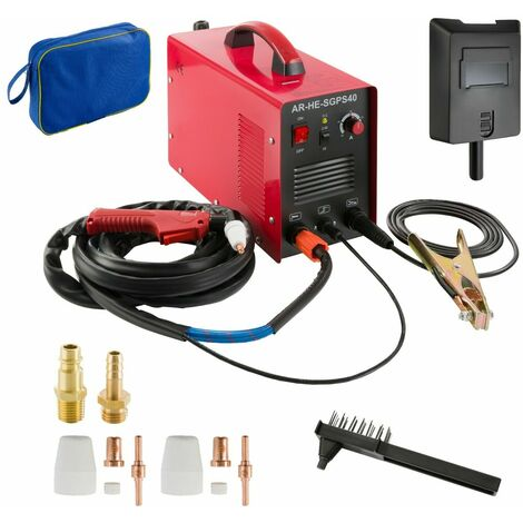 Arebos Découpeur Plasma 20 - 40 A - Iverter Cut40 - rouge