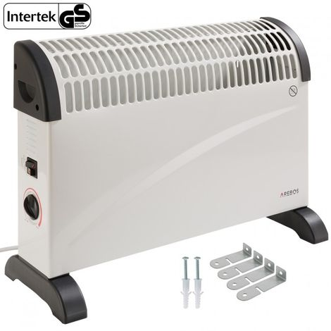 Arebos Electric Heater Convector Thermostat Portable 2000 W