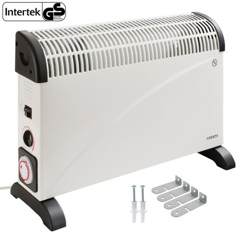 Arebos Electric Heater Convector Thermostat Portable Timer 2000 W