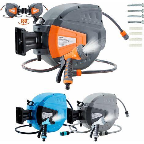 AREBOS enrouleur de tuyau d'arrosage tuyau d'arrosage tuyau d'arrosage 20 m - Orange