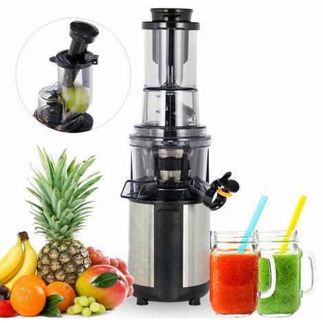 AREBOS Entsafter Saftpresse Edelstahl Presse Saft Slow Juicer Fruchtpresse Obstpresse 200W
