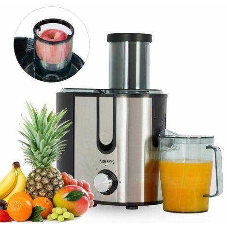 AREBOS Entsafter Saftpresse Edelstahl Presse Saft Slow Juicer Frucht Obst 1200W