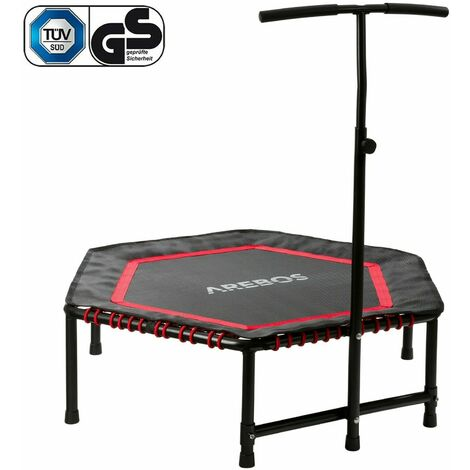 Arebos Exercise Trampoline Mini Rebounder Fitness Trampoline Hexagonal Red