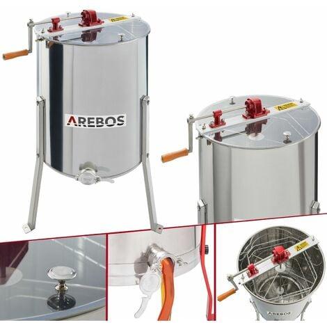 "main image of ""AREBOS Honeycomb spinner Manual honey extractor 4-comb spinner 4-frame extractor"""