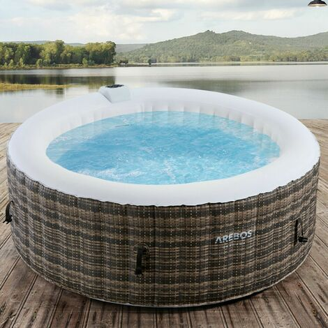 AREBOS In-Outdoor Whirlpool Spa Pool Wellness Heizung Massage Aufblasbar Rund