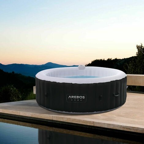 AREBOS In-Outdoor Whirlpool Spa Pool Wellness Heizung Massage Aufblasbar Rund - Rund