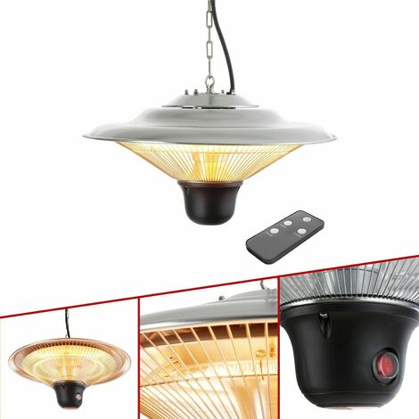 Arebos Infrared Heater Ceiling Mount Radiant Halogen Heater with controller