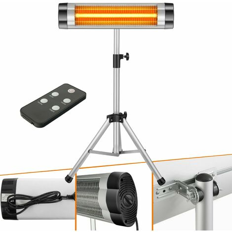 Arebos Infrared Radiant Heater 2500 W Electric Indoor Outdoor Space Patio