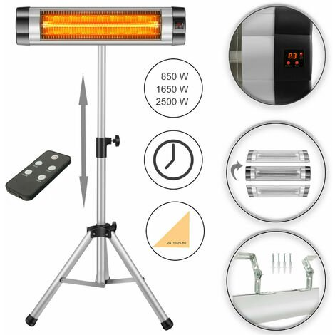 Arebos infrared radiant heater 2500 watt electric indoor outdoor space patio