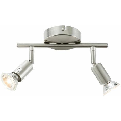Arebos Lámpara de techo LED con 2 focos 6 W