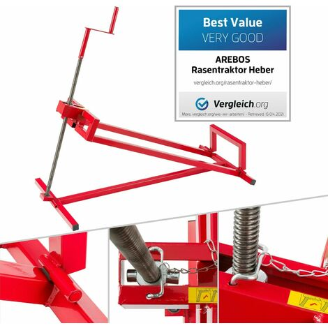 """main image of """"AREBOS Lawn tractor jack Lawn tractor Lifting device Hoist Lift Cleaning assistance - red"""""""
