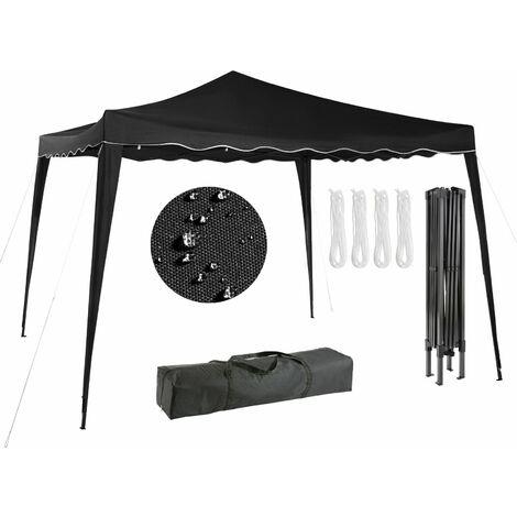 Arebos Pavillon pliable Tente de réception 3x3m antracite - anthracite