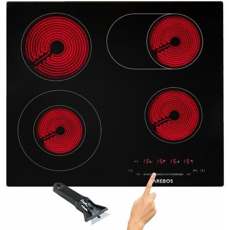 """main image of """"AREBOS Piano Cottura in Vetroceramica 4 Zone di Cottura 59 cm 7200W"""""""