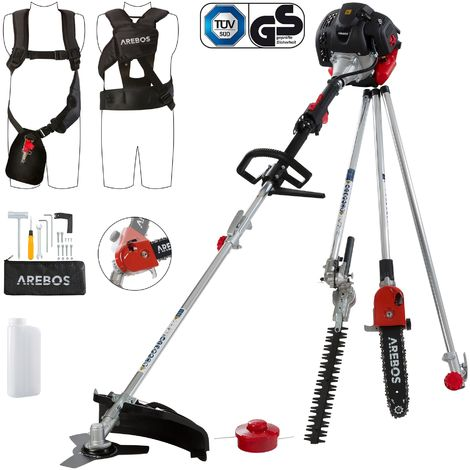 Arebos Premium 5in1 String Trimmer Lawn Trimmer Hedge Trimmer Pole Saw Scythe