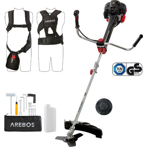 Arebos Premium Petrol String trimmer – Lawn trimmer 52ccm 3.0hp