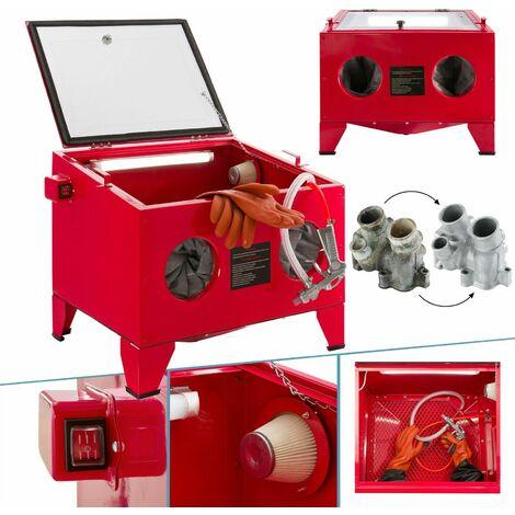 AREBOS Sandblasting cabinet Sand blasting unit Sandblasting system Sand blaster 90 l