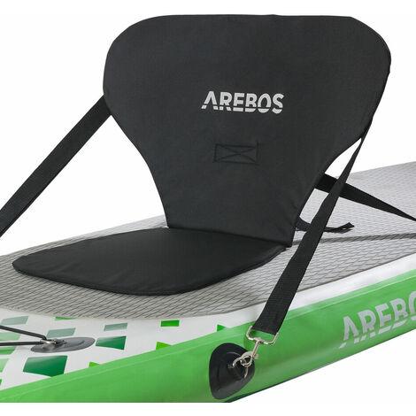AREBOS Siège de Kayak pour SUP Board Stand Up Paddle Surfboard Top Comfort Noir - noir