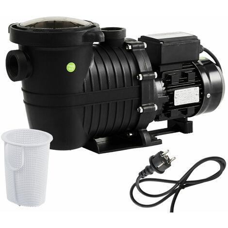 AREBOS Swimming Pool Pump Circulation Pump Water Filter 800W 15000l/h - schwarz