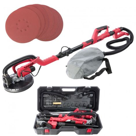Arebos Telescopic Drywall Sander 750W Giraffe with Dust Suction and Bag 225mm