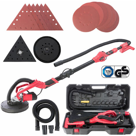Arebos Telescopic Drywall Sander Delta Triangle 710W Giraffe Dust Suction, Pads