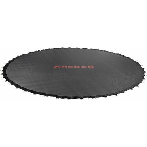 AREBOS Toile de trampoline Ø 195 cm pour trampoline de Ø 244 cm, pour 48 ressorts avec une longueur de 135 mm - noir