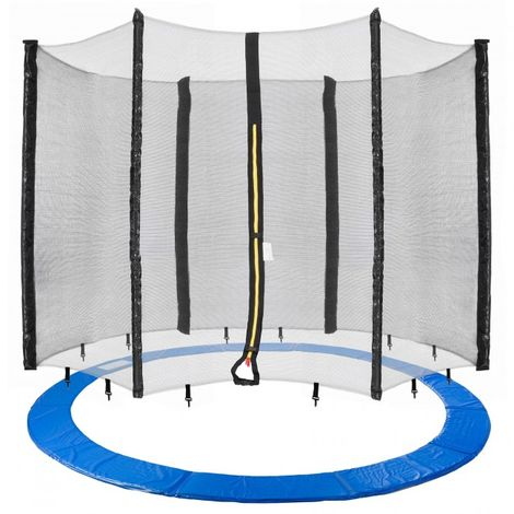 Arebos Trampolin Cover Edge + Safety Net 460 cm (181.10 in) 6 Poles