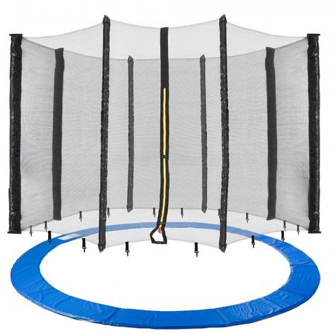 Arebos Trampolin Cover Edge + Safety Net 460 cm (181.10 in) 8 Poles