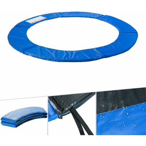 Arebos Trampolin Randabdeckung Umrandung Randschutz Federabdeckung 183 - 487 cm blau