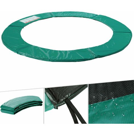 Arebos Trampolin Randabdeckung Umrandung Randschutz Federabdeckung 183 - 487 cm Grün