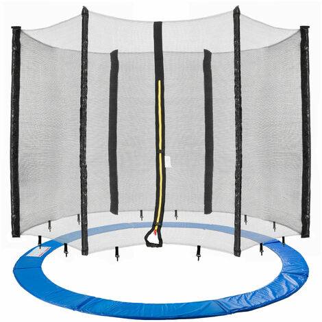 AREBOS Trampoline Safety Net + Edge Cover 396cm 6 Net Poles