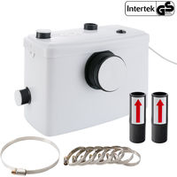 Arebos Trituratore WC Maceratore Pompa Sanitario per Acque Reflue 600W